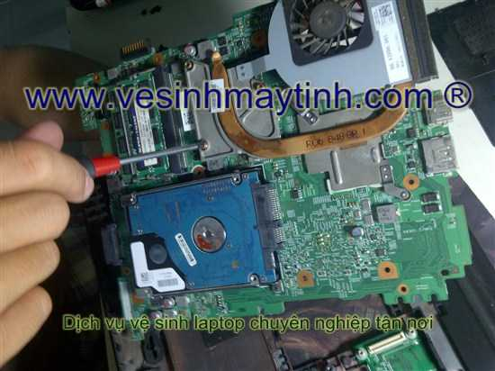 vệ sinh cpu laptop dell