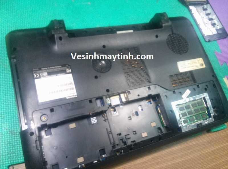 Vệ sinh bão dưỡng laptop Toshiba Qosmio